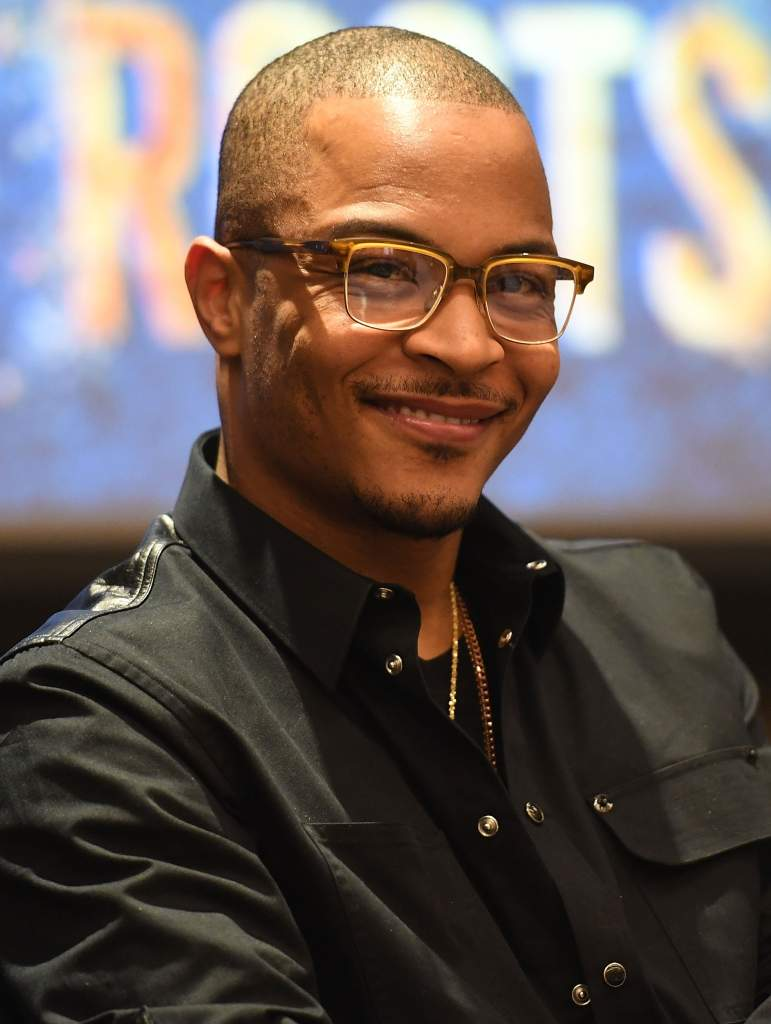 "ATLANTA, GA - MAY 09: Actor/rapper Tip ""T.I."" Harris onstage at HISTORY's ""Roots"" Atlanta advanced screening at National Center for Civil and Human Rights on May 9, 2016 in Atlanta, Georgia. (Photo by Paras Griffin/Getty Images for History/Roots)"