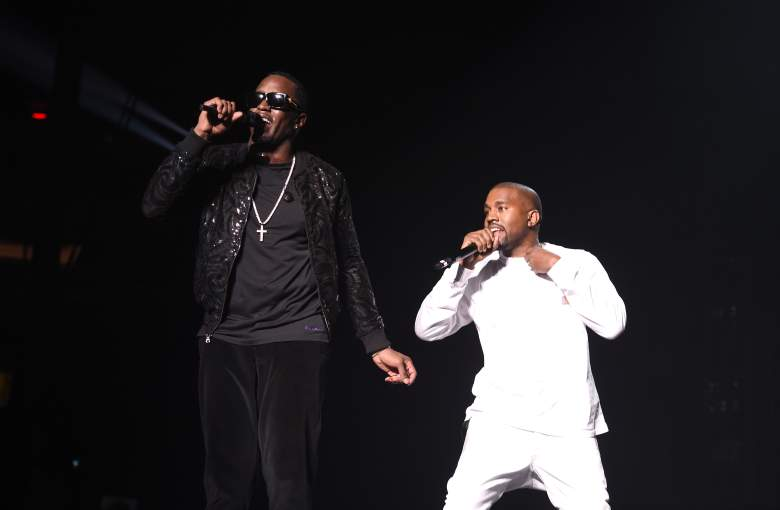 NEW YORK, NY - SEPTEMBER 04: Puff Daddy and Kanye West perform during Puff Daddy and Bad Boy Family Reunion Tour at Madison Square Garden on September 4, 2016 in New York City. (Photo by Dimitrios Kambouris/Getty Images for Live Nation)