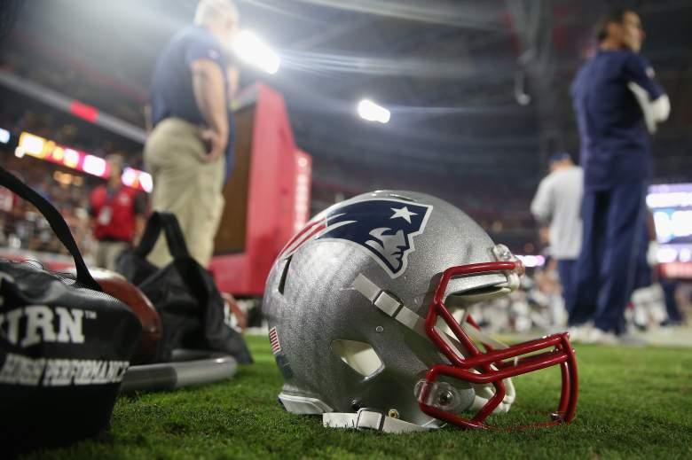 A New England Patriots helmet. (Getty)