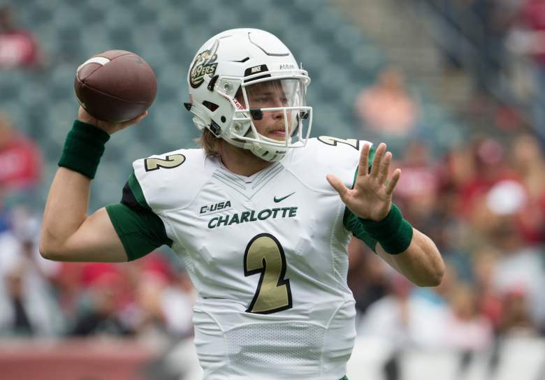 Kevin Olsen of the Charlotte 49ers throws a pass in a game during the 2016 season.  (Getty)