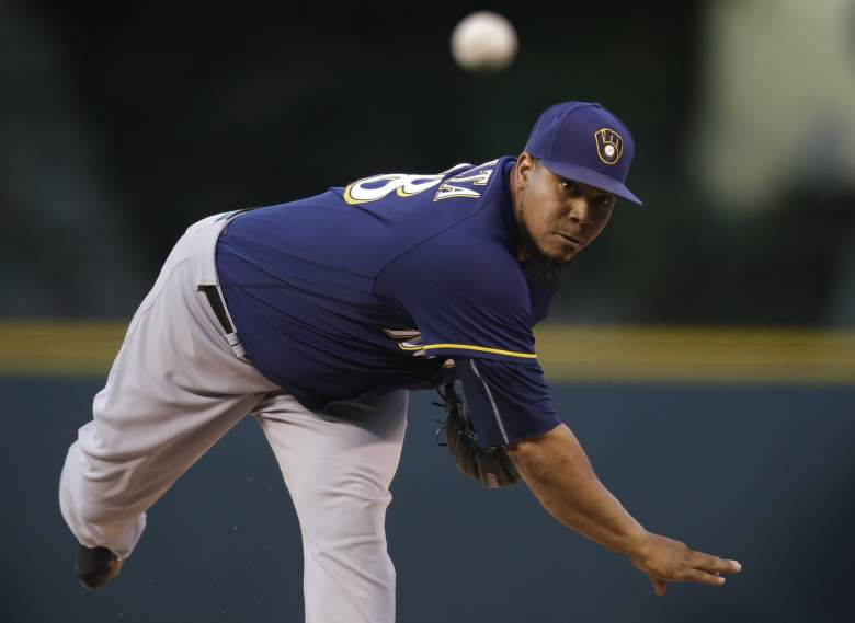 Milwaukee Brewers pitcher Wily Peralta (Getty)