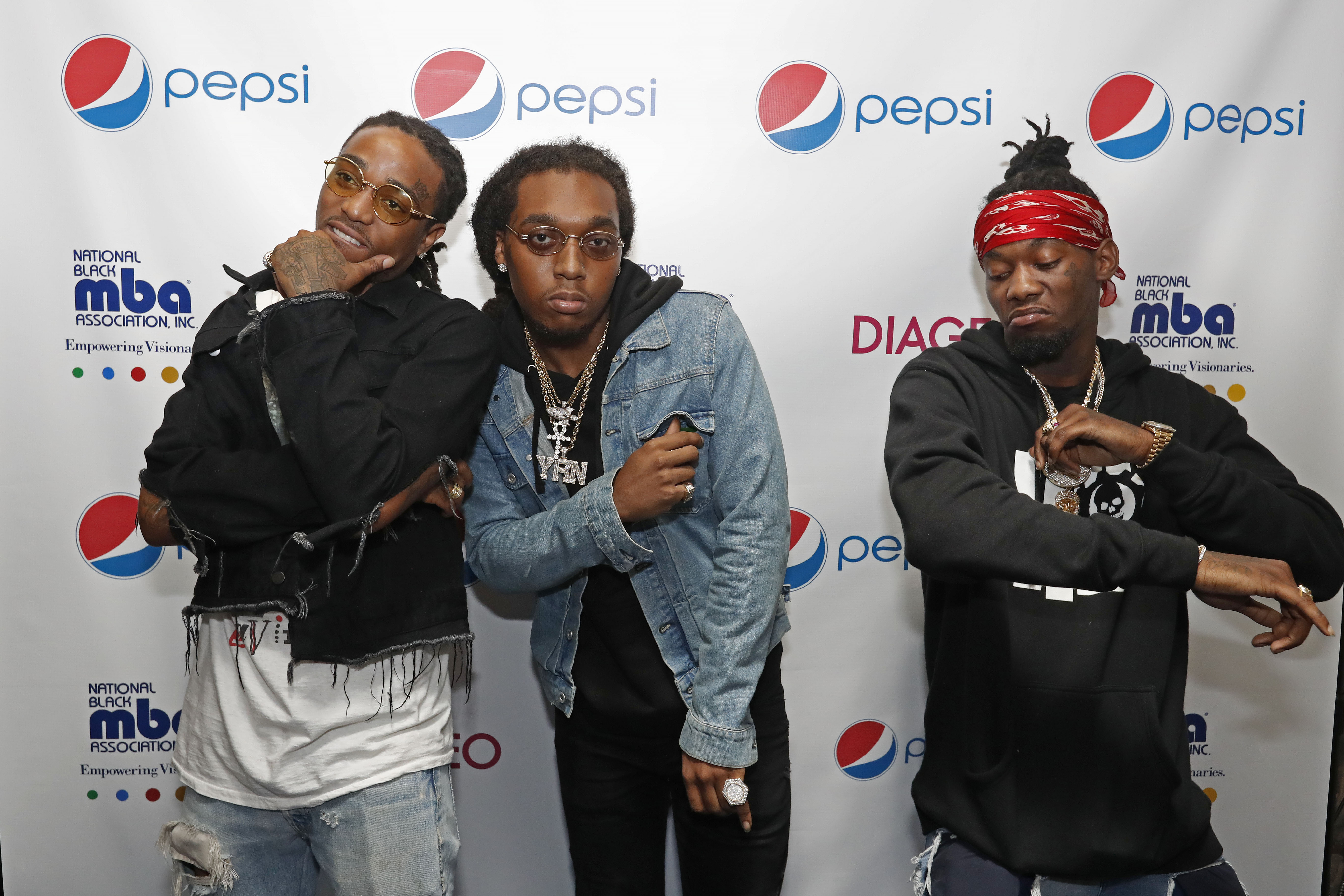 Migos attend the 2nd Annual Pepsi MBA Live at The Metropolitan on October 14, 2016 in New Orleans, Louisiana. (Photo by Tyler Kaufman/Getty)