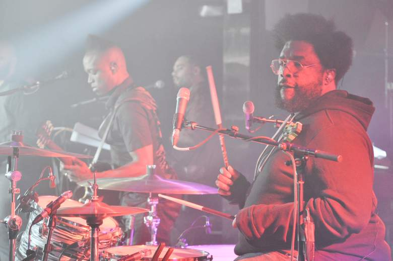 Quest Love of The Roots performs on the drums. (Getty)