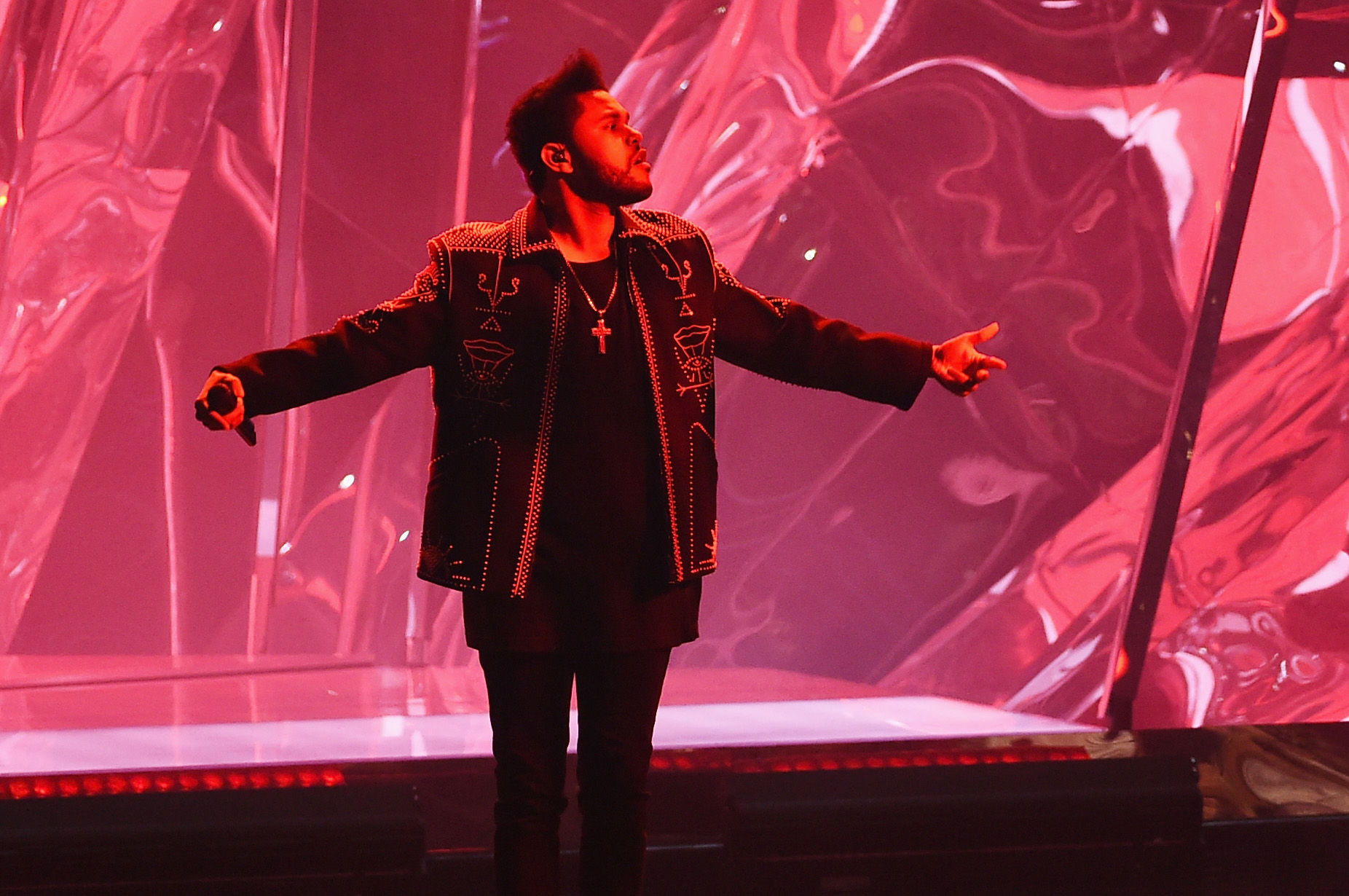 The Weeknd performs during the 2016 American Music Awards on November 20, 2016 in Los Angeles, California. (Photo by Kevin Winter/Getty Images)