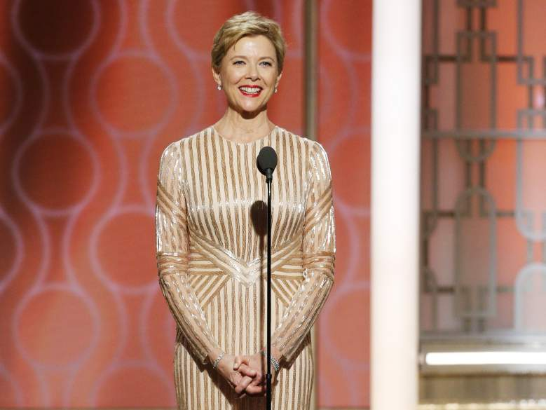 Annette Benning onstage during the 74th Annual Golden Globe Awards on January 8. (Getty)