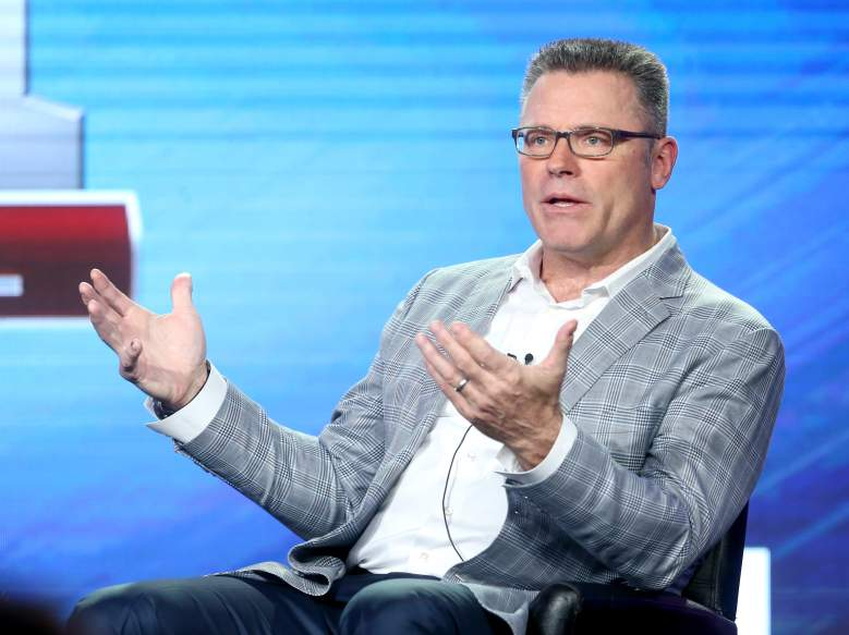 Analyst Howie Long speaks onstage during the FOX portion of the 2017 Winter Television Critics Association Press Tour at Langham Hotel on January 11, 2017 in Pasadena, California.  (Getty)