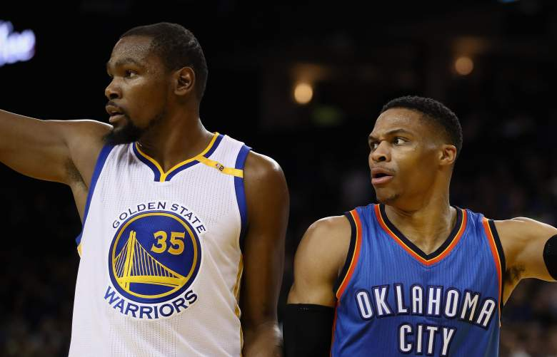 kevin durant, russell westbrook, feud, friends, talking, are they