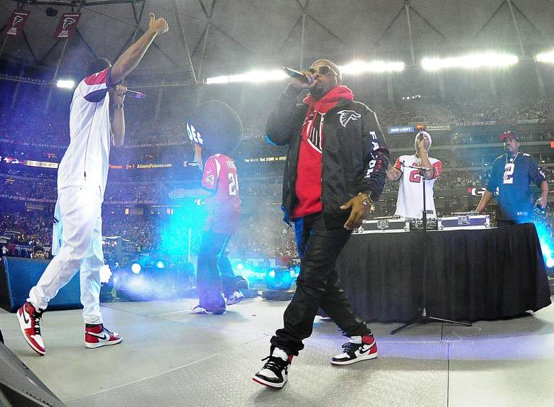 Ludacris performs at the NFC Championship Game between the Atlanta Falcons and the Green Bay Packers on January 22. (Getty)