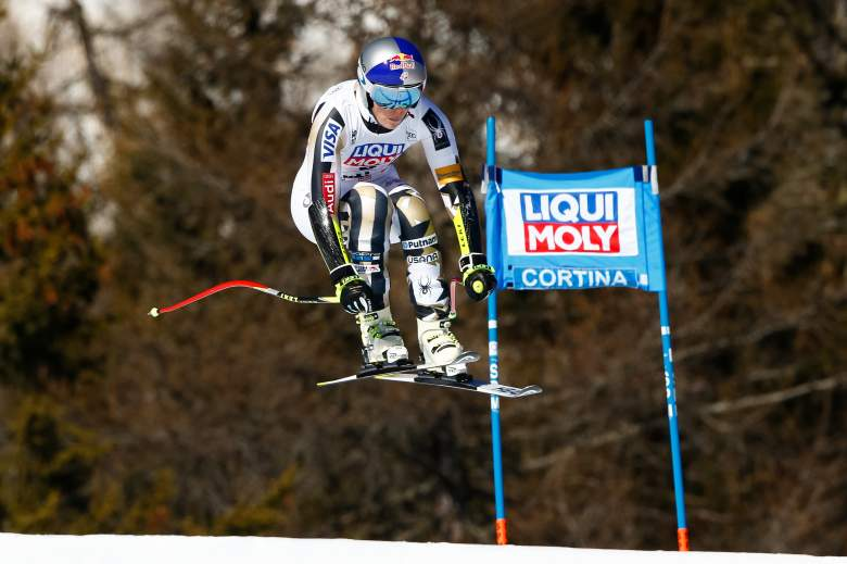 Lindsey Vonn competes during the Audi FIS Alpine Ski World Cup Super-G on January 29, in Italy (Getty)