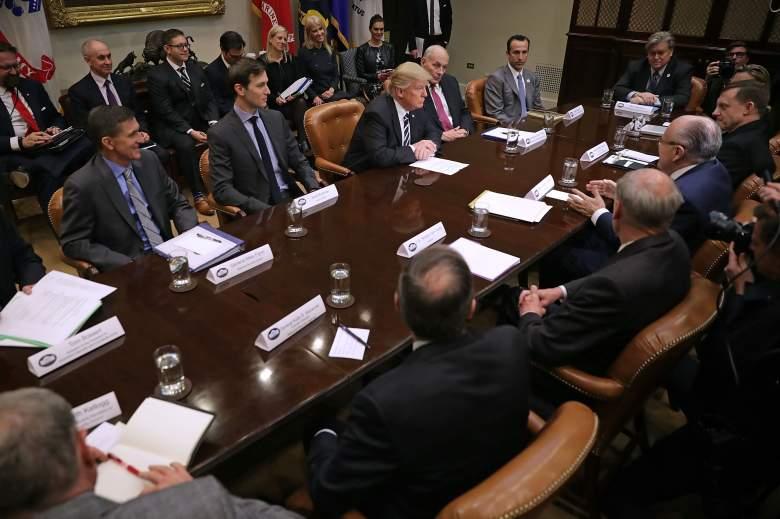 Donald Trump roosevelt room, donald trump cyber security team, Donald Trump roosevelt room meeting
