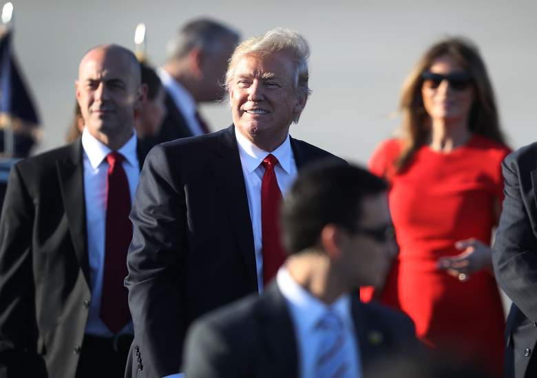 PALM BEACH, FL - FEBRUARY 03:  President Donald Trump walks to his vehicle after arriving on Air Force One at the Palm Beach International Airport for a visit to his Mar-a-Lago Resort for the weekend on February 3, 2017 in Palm Beach, Florida. President Donald Trump is on his first visit to Palm Beach since his inauguration.  (Photo by Joe Raedle/Getty Images)