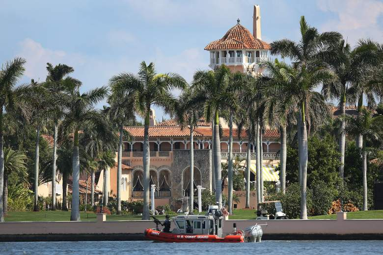 PALM BEACH, FL - FEBRUARY 04:  A Coast Guard boat is seen patrolling in front of the Mar-a-Lago Resort where President-elect Donald Trump is staying for the weekend on February 4, 2017 in Palm Beach, Florida.  President Donald Trump is on his his first visit to Palm Beach since his inauguration.  (Photo by Joe Raedle/Getty Images)