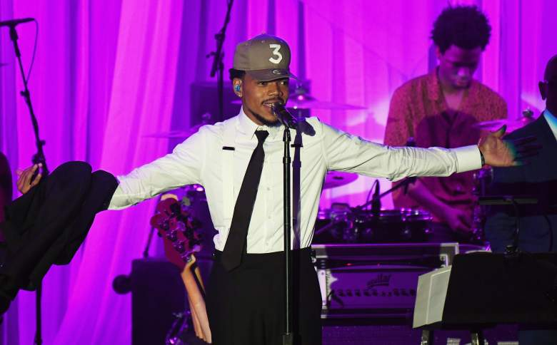 LOS ANGELES, CA - FEBRUARY 11: Chance The Rapper performs onstage at the Pre-GRAMMY Gala and Salute to Industry Icons Honoring Debra Lee at The Beverly Hilton on February 11, 2017 in Los Angeles, California. (Photo by Kevork Djansezian/Getty Images)