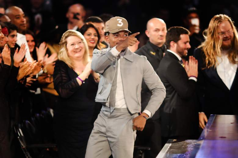 LOS ANGELES, CA - FEBRUARY 12: Hip Hop Artist Chance The Rapper during The 59th GRAMMY Awards at STAPLES Center on February 12, 2017 in Los Angeles, California. (Photo by Christopher Polk/Getty Images for NARAS)