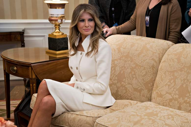 melania trump white suit