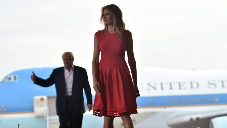 melania trump red dress, melania trump melbourne, melania trump style, melania trump fashion