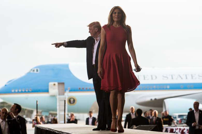 melania trump red dress