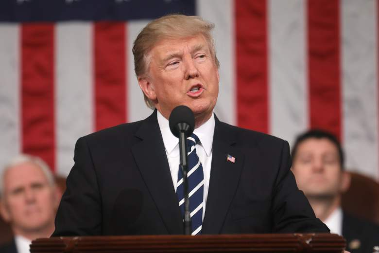 President Donald Trump addresses a joint session of the U.S. Congress on February 28, 2017 in the House chamber of the U.S. Capitol in Washington, DC. (Getty)