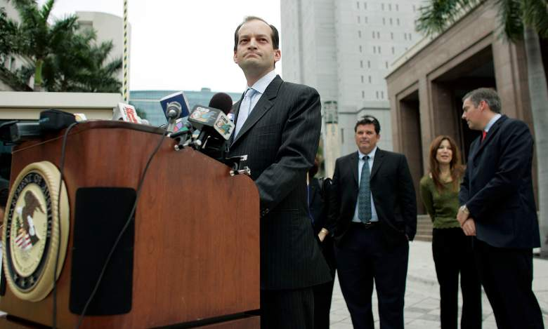 Alexander Acosta speaks to the media on February 27, 2007 in Miami, Florida. (Getty)