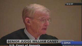 William Canby is a senior judge on the 9th Circuit Court of Appeals. (CSPAN)
