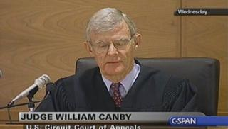 William Canby at the 9th Circuit Court of Appeals. (CSPAN)