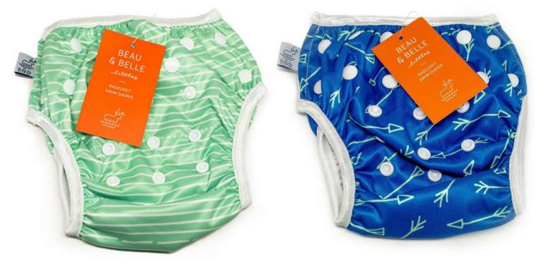 Nageuret Reusable Swim Diaper, Adjustable & Stylish Fits Diaper Sizes Beau & Belle Littles