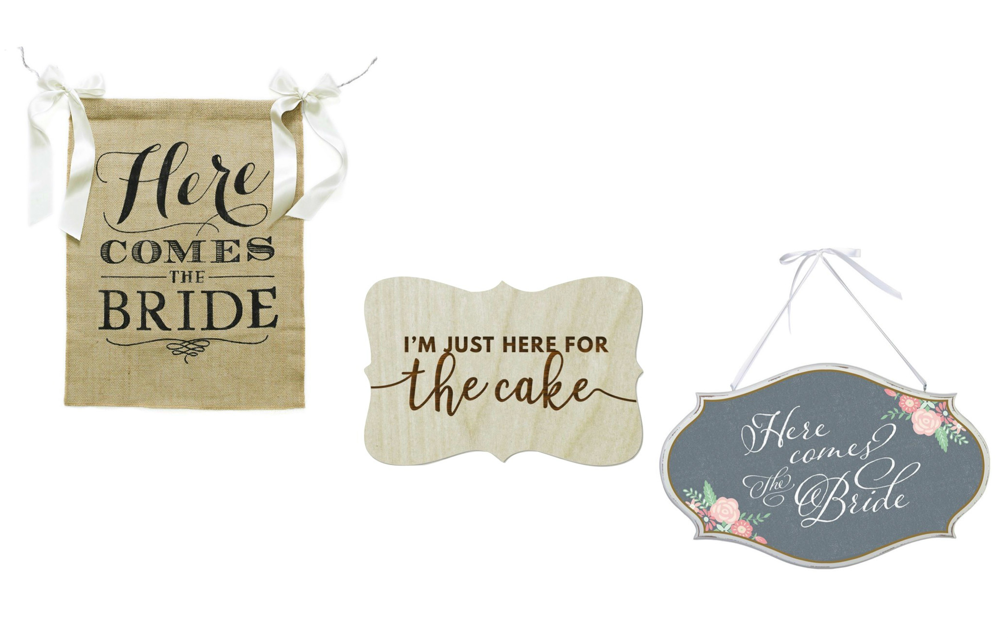 ring bearer signs, here comes the bride sign, custom wedding signs, ring bearer gifts