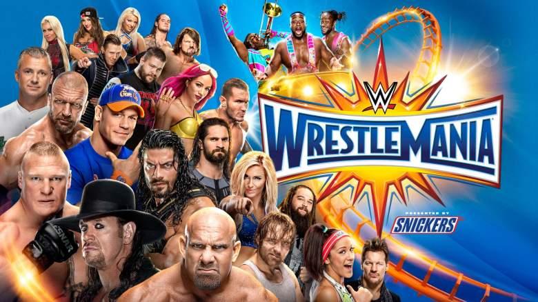 WrestleMania 33, WrestleMania 33 poster, WrestleMania 33 logo