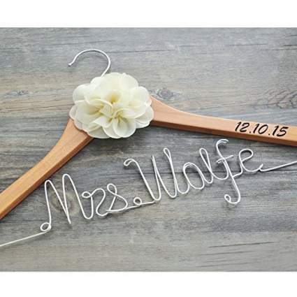 wedding hangers, bride hanger, bridal hangers, wedding dress hanger, personalized wedding hanger, bridesmaid hangers, personalized hangers, personalised hangers