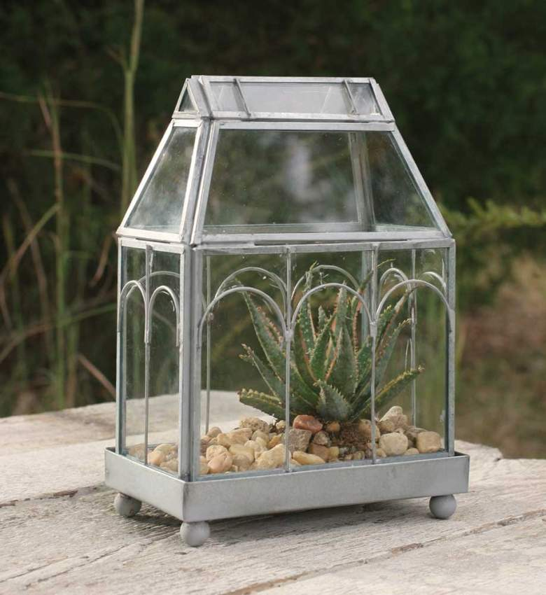 Click to open expanded view Colonial Tin Works Large Terrarium With Stand