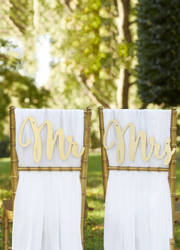 bride and groom chair signs, wedding chair signs, bride and groom sign, bride and groom chairs, mr and mrs sign, mr & mrs. sign, bride and groom chairs, wedding decor, wedding decoration ideas