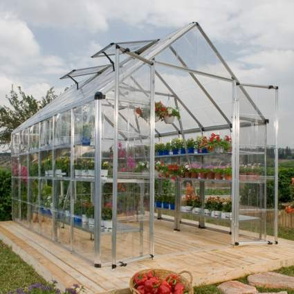 Palram Snap & Grow 8' Series Hobby Greenhouse - 8 x 20 x 9 Silver