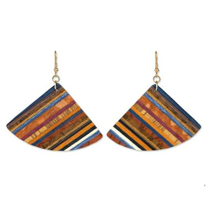 wood earrings 5th anniversary