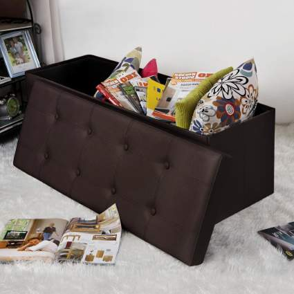 storage ottoman, storage bench, folding storage ottoman