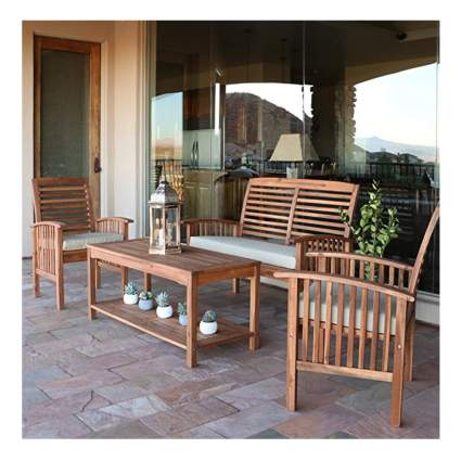 acacia wood garden furniture set