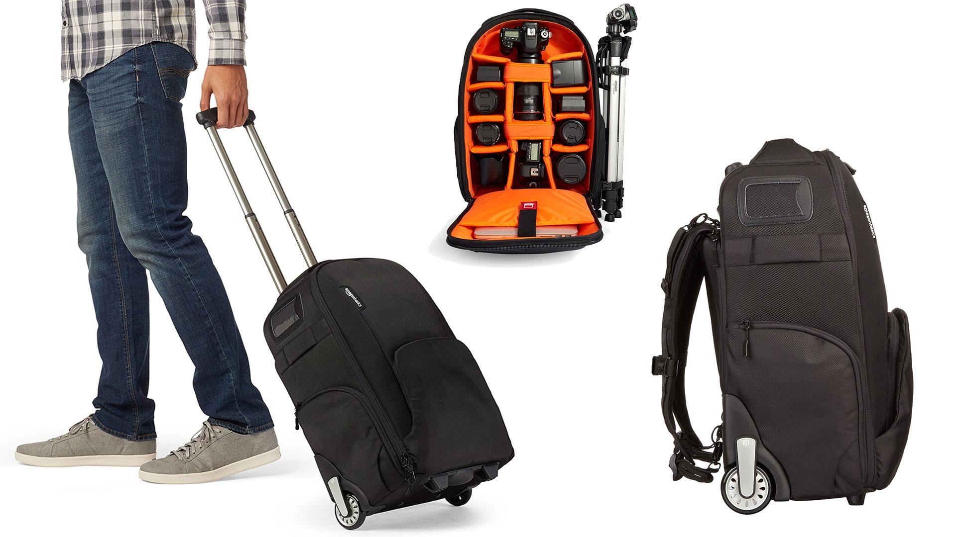 AmazonBasics Convertible Rolling Backpack, best dslr bag, best dslr camera bag, best dslr camera backpack
