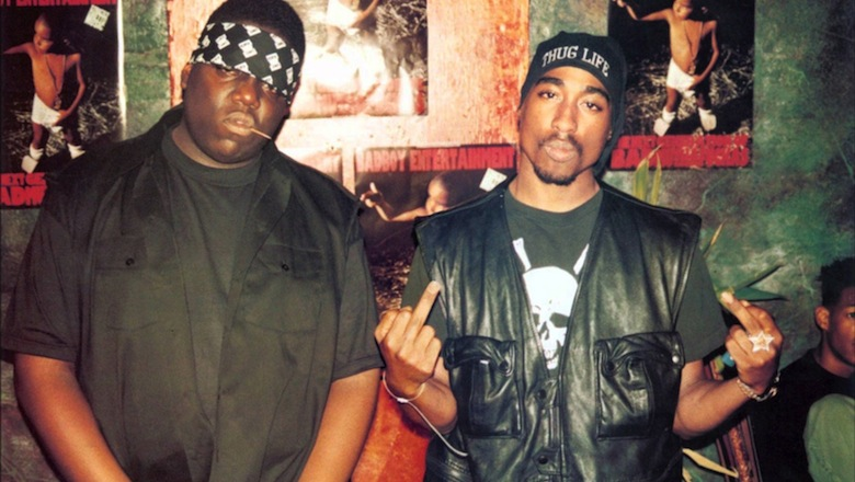 Biggie and 2Pac photo together