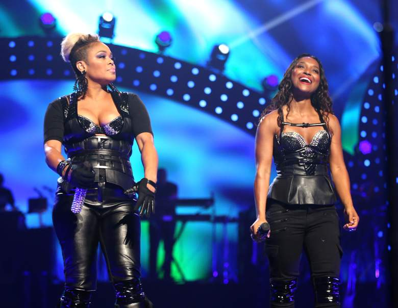 LAS VEGAS, NV - SEPTEMBER 20: Recording artists Tionne 'T-Boz' Watkins and Rozonda 'Chilli' Thomas of TLC performs onstage during the iHeartRadio Music Festival at the MGM Grand Garden Arena on September 20, 2013 in Las Vegas, Nevada. (Photo by Christopher Polk/Getty Images for Clear Channel)