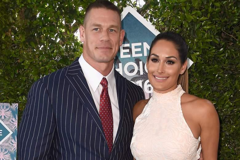 John Cena and Nikki Bella, John Cena and Nikki Bella red carpet, John Cena and Nikki Bella kids choice awards