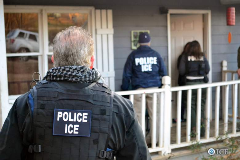 Foreign nationals are arrested during a targeted enforcement operation conducted by U.S. Immigration and Customs Enforcement on February 9, 2017 in Atlanta, Georgia. (Getty)