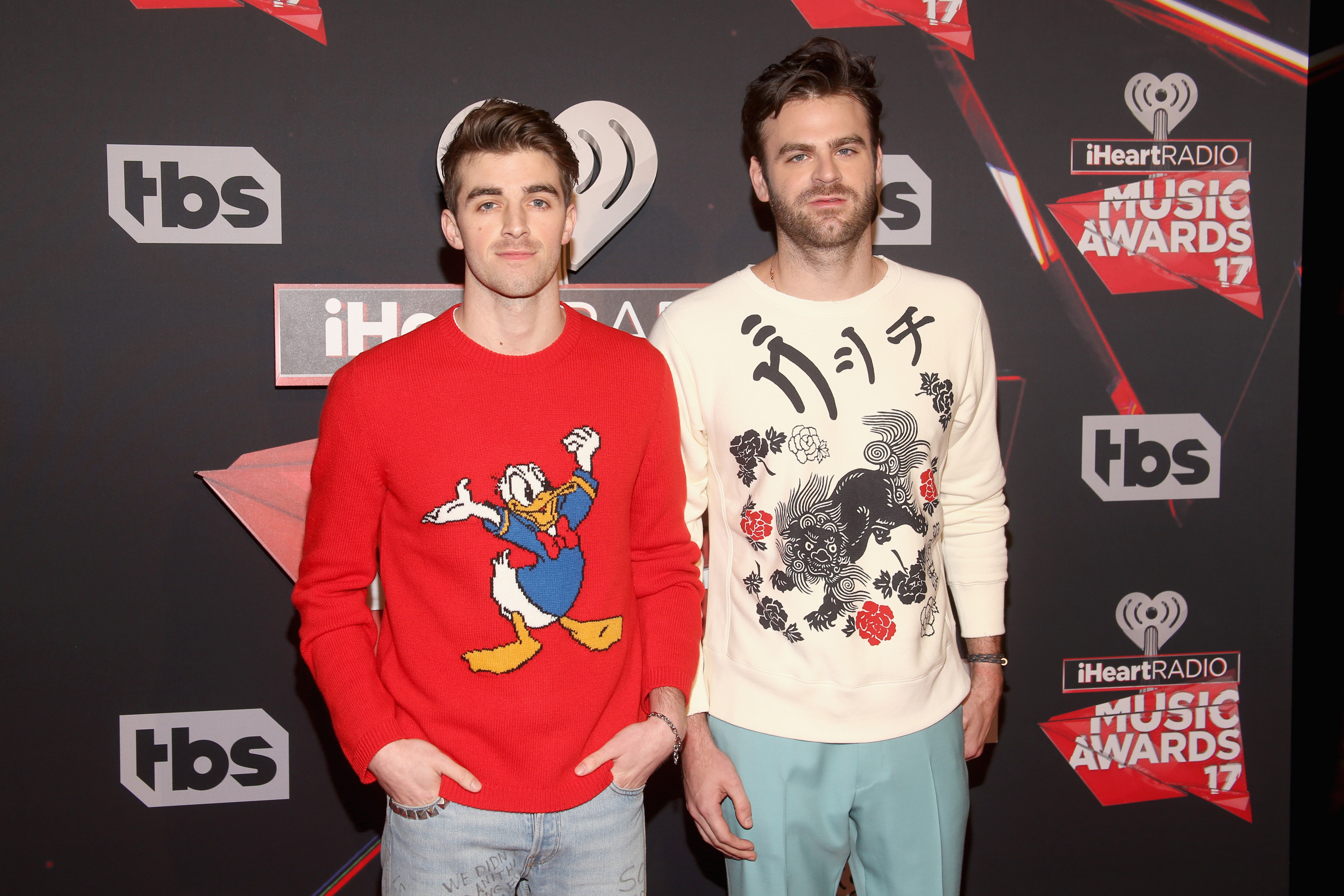 The Chainsmokers attend the 2017 iHeartRadio Music Awards in Inglewood, California. (Photo by Jesse Grant/Getty Images)