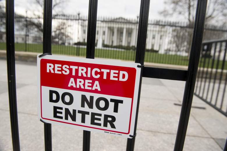 White House fence, White House security fence, white house restricted fence