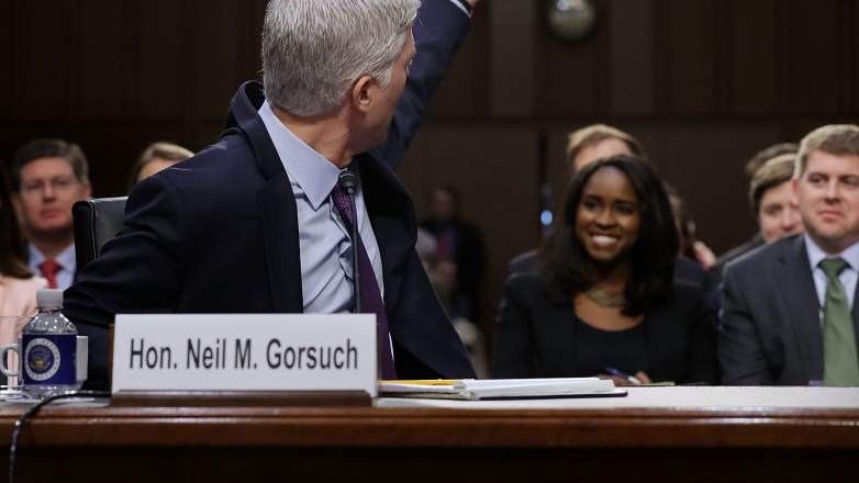 Mary Elizabeth Taylor, Black Woman sitting next to Goruch, Neil Gorsuch confirmation hearing