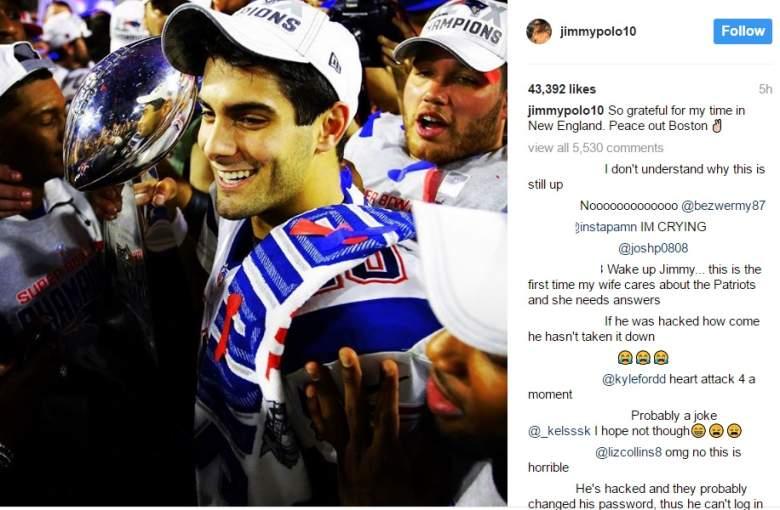 Jimmy Garoppolo Instagram, Jimmy Garoppolo Patriots, Jimmy Garoppolo trade