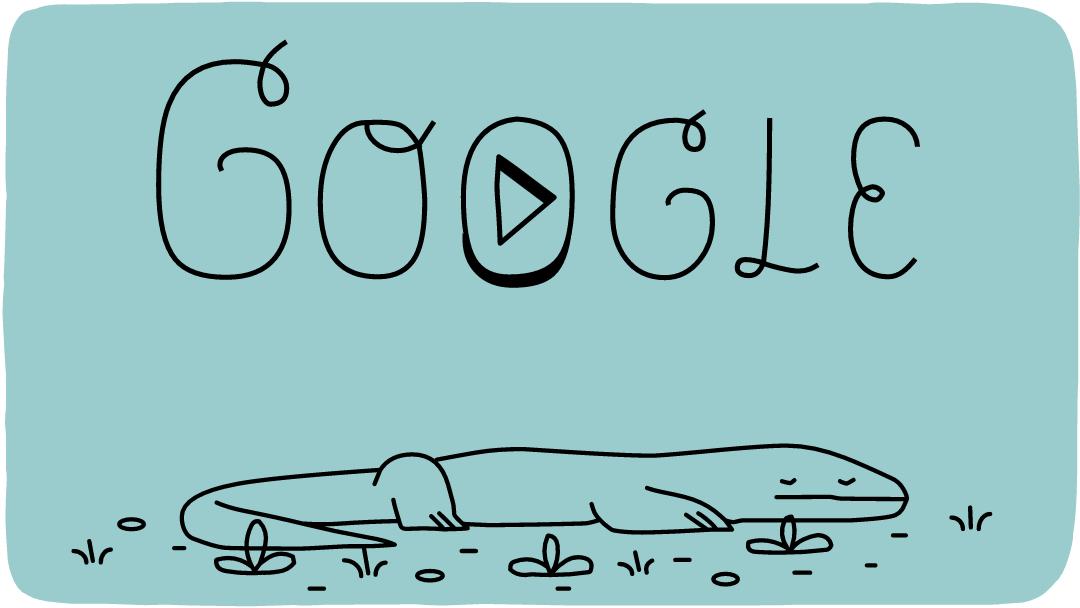 komodo national park google doodle, komodo national park 37th anniversary