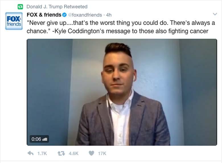 Kyle Coddington Donald Trump Twitter