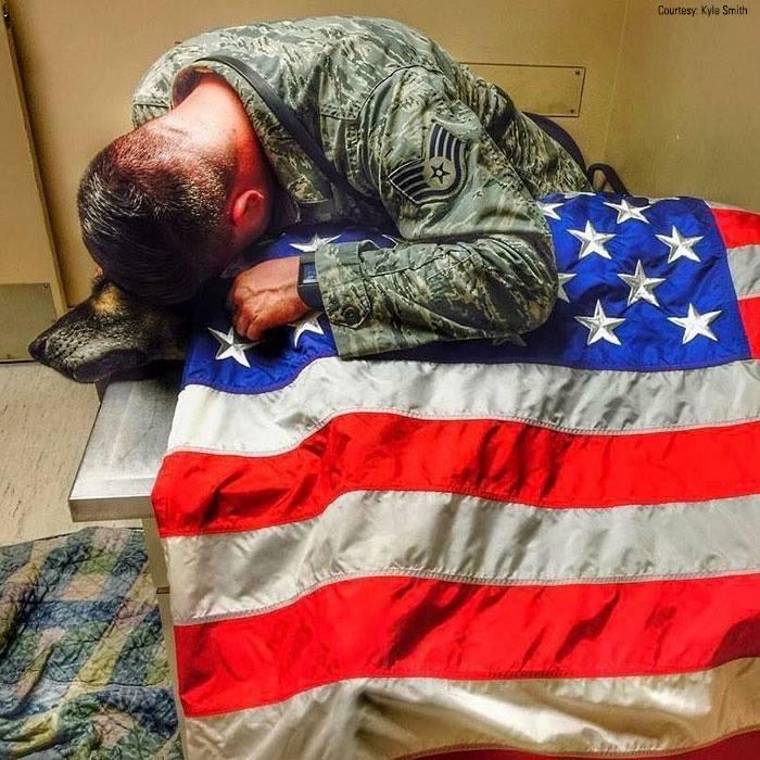 Kyle Smith dog, Kyle Smith Bozda, Air Force Sergeant Dead Dog