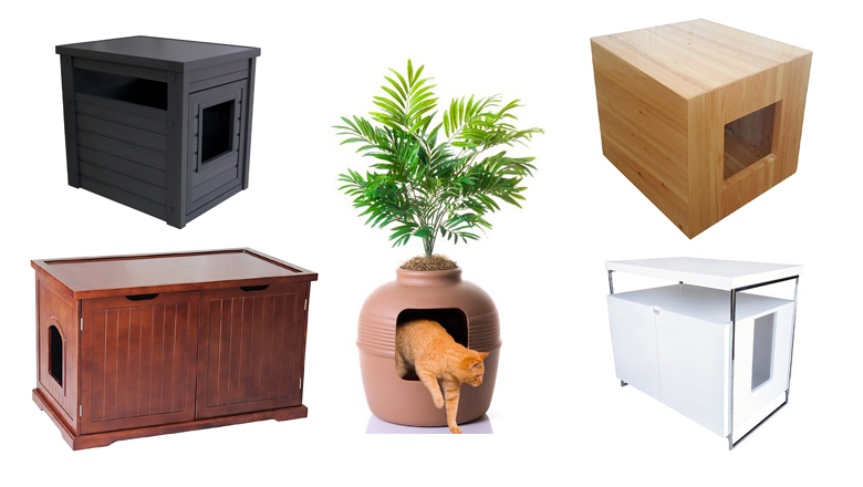 Cat Litter Box Furniture Enclosures