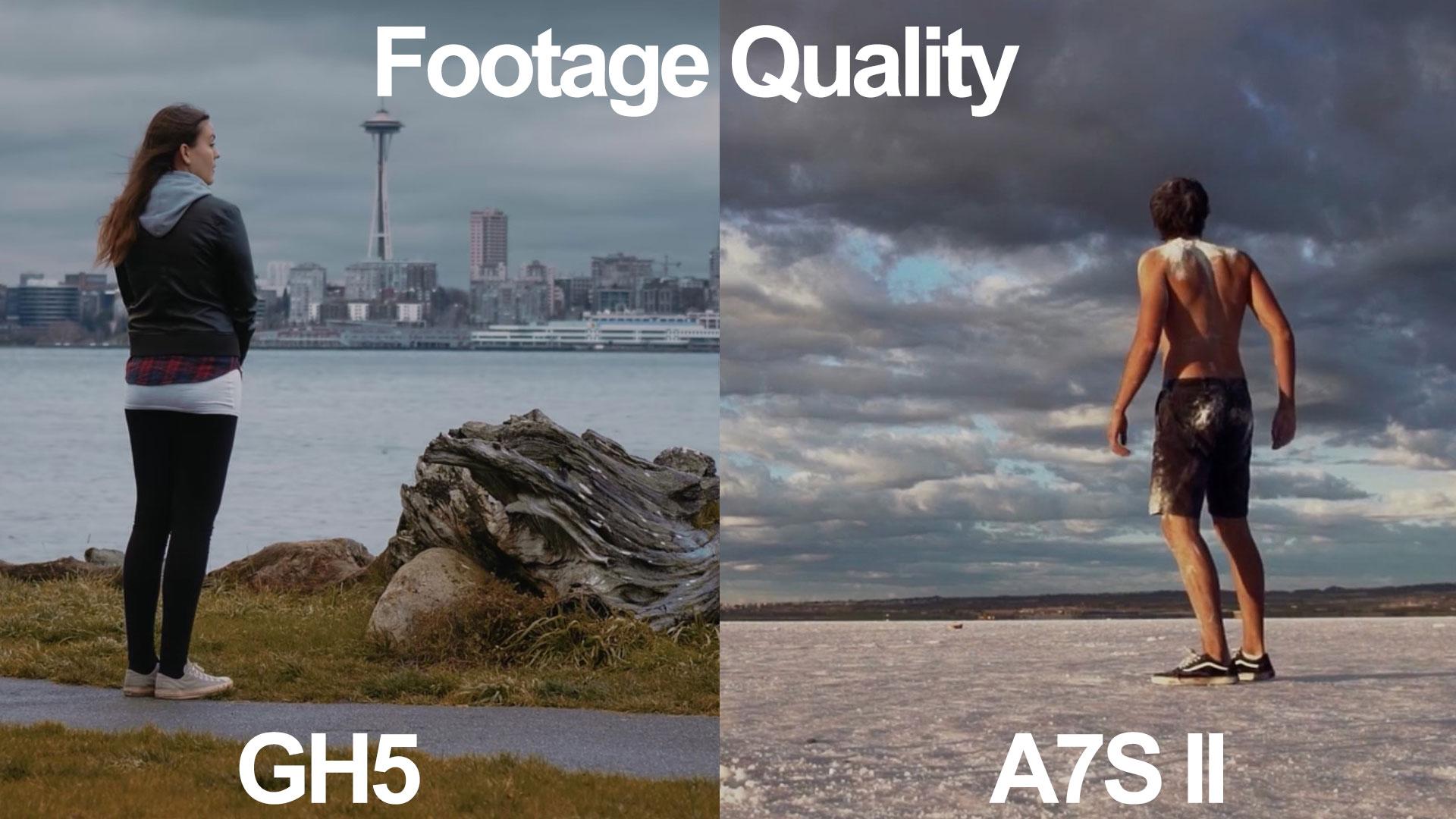 a7s ii gh5 footage quality dynamic range iso