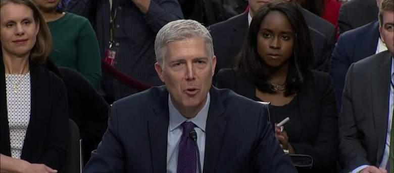 Mary Elizabeth Taylor, Woman sitting behind Gorsuch, Neil Gorsuch confirmation hearing